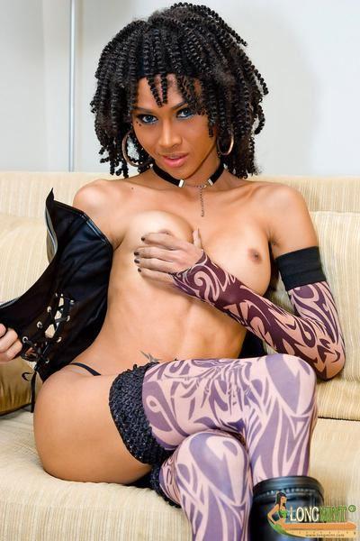 Shemale black asian mix